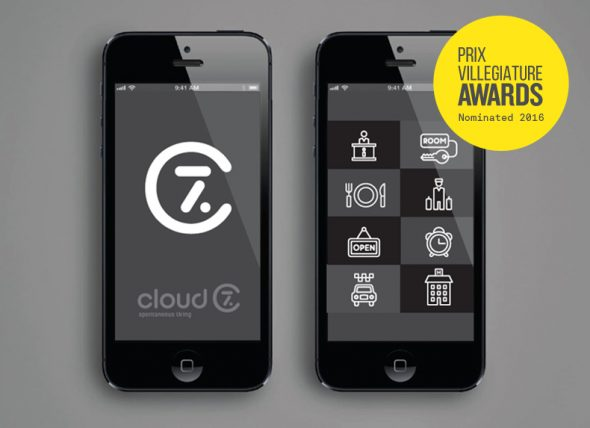 Cloud 7 app design nominated for Prix Villegiature Awards 2016