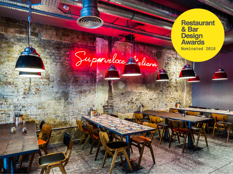 Pizza union shortlisted for restaurant bar design awards