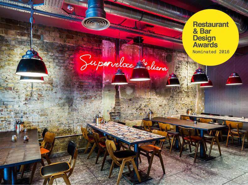 Pizza union shortlisted for restaurant bar design awards