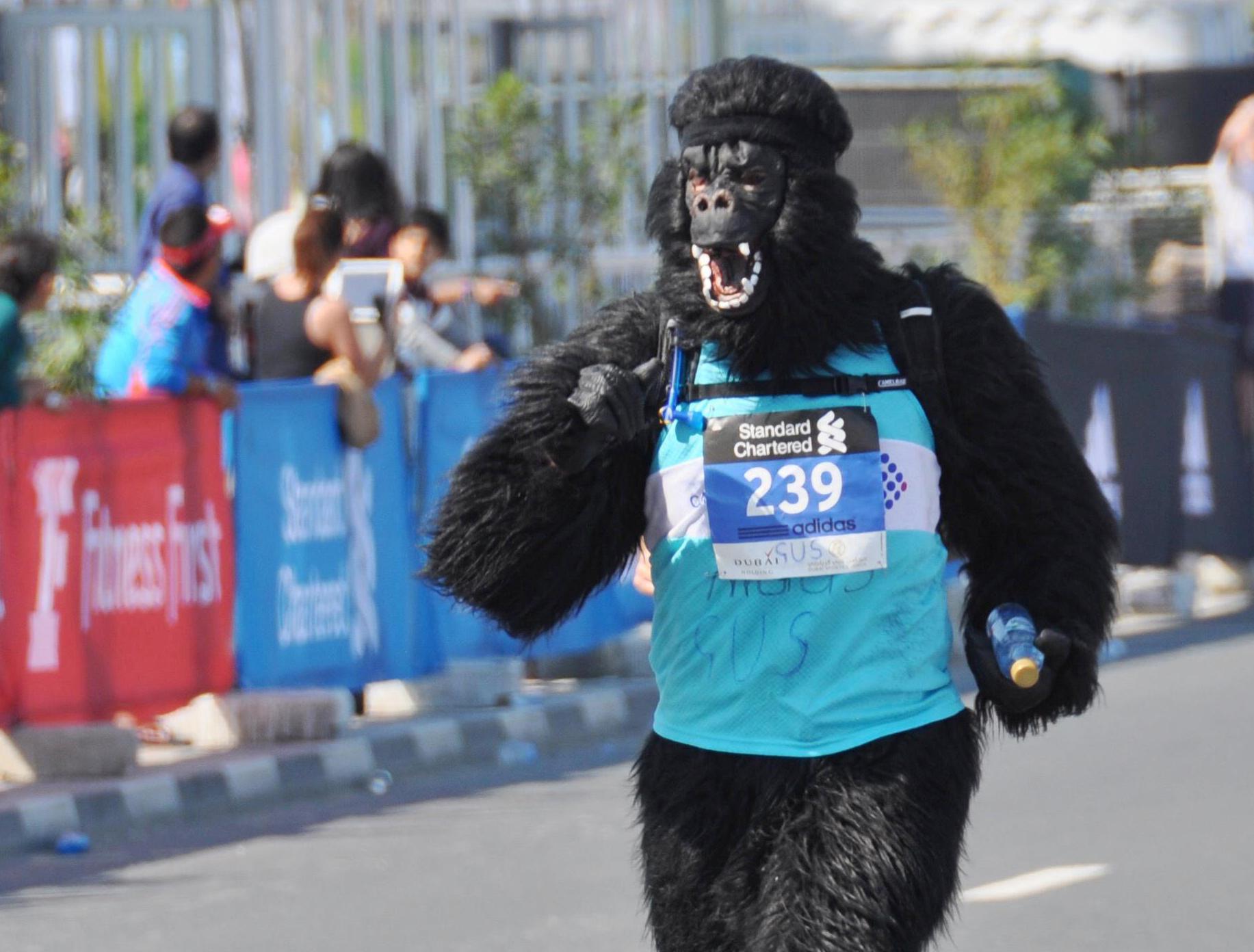 I-AM supports a desert marathon runner
