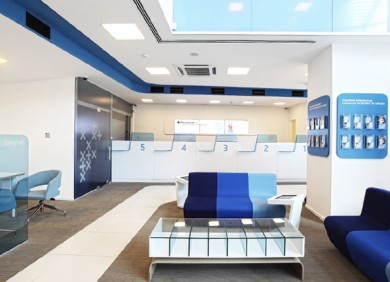 Finansbank banking interior design agency