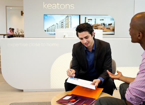 Keatons Estate agent Branding and Interior Design